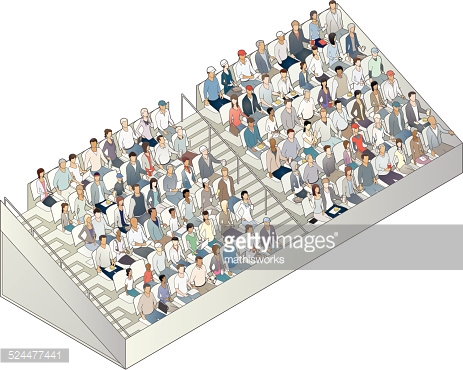 Grandstand Illustration Vector Art.