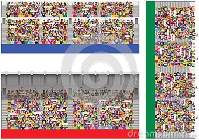 Baseball Crowd Stock Illustrations.