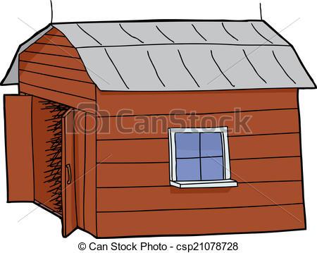 Illustration Vecteur de ouvert, porte, grange.