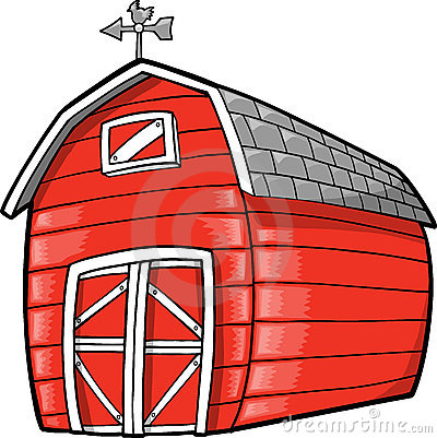 Cute Red Vector Barn Royalty Free Stock Images.