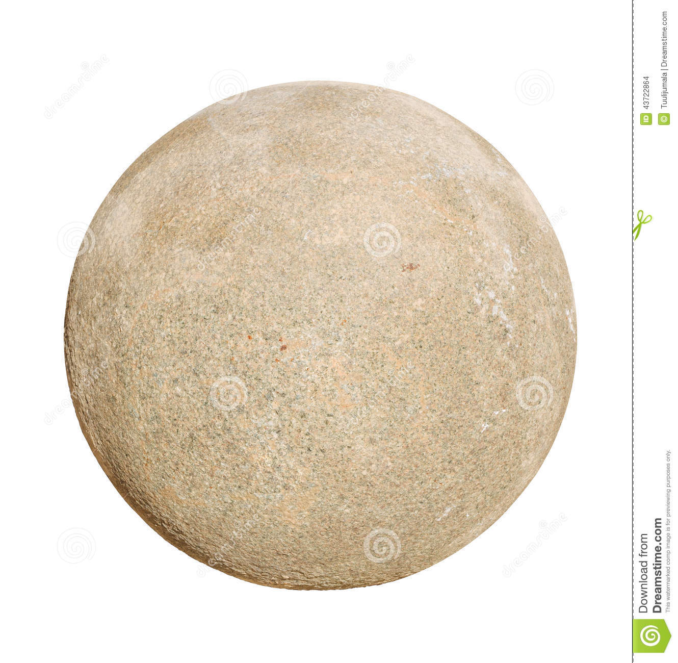 Granite Stone Ball Stock Photo.