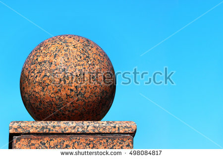 Stone Ball Sphere Red Stock Photos, Royalty.