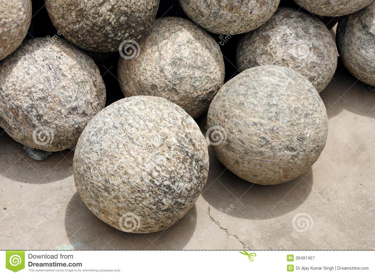 Granite Balls Stock Photos.