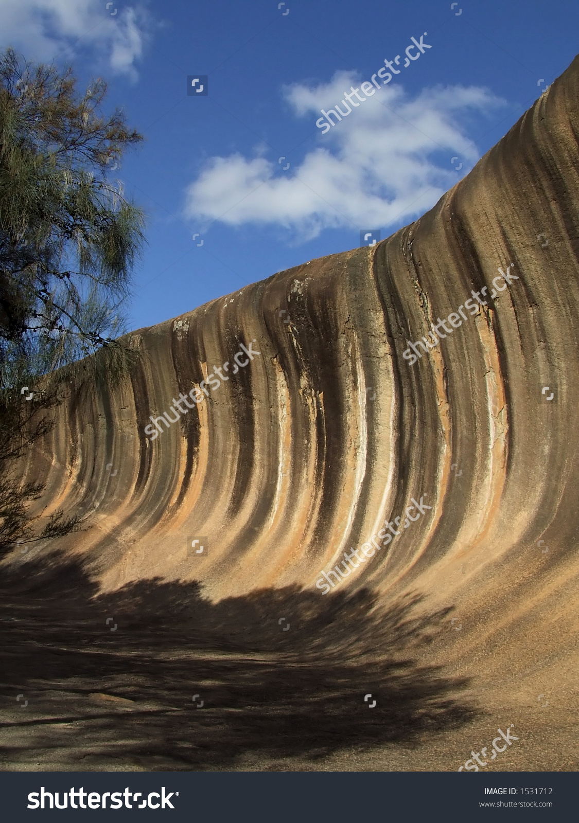 Wave Rock Hyden Western Australia Granite Stock Photo 1531712.