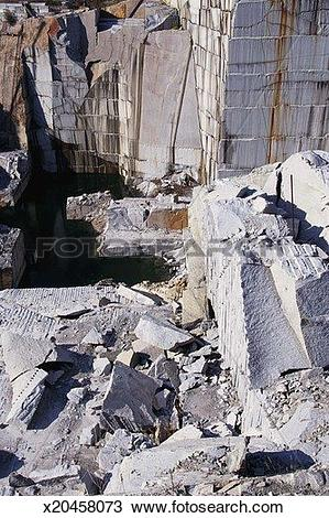 Stock Photo of Slabs in granite quarry x20458073.