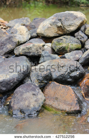 Stone Weir Stock Photos, Royalty.