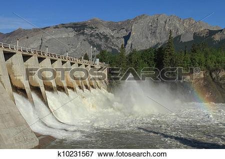 Picture of Hydro Dam Spillway k10231567.
