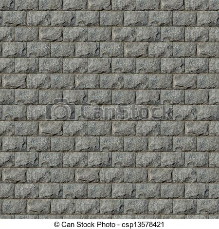 Clip Art of Seamless Texture of Wall from Granite Blocks.