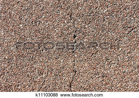 Stock Illustration of Cracked small granite wall background.