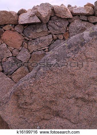 Stock Images of granite wall k16199716.