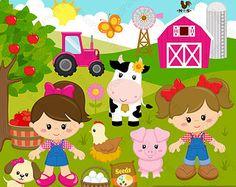 Barnyard, Farm cutouts, animal cutouts, die cuts, die cut outs.