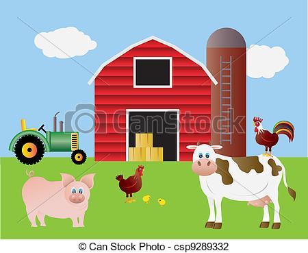 Clip Art Red Barn Clipart.