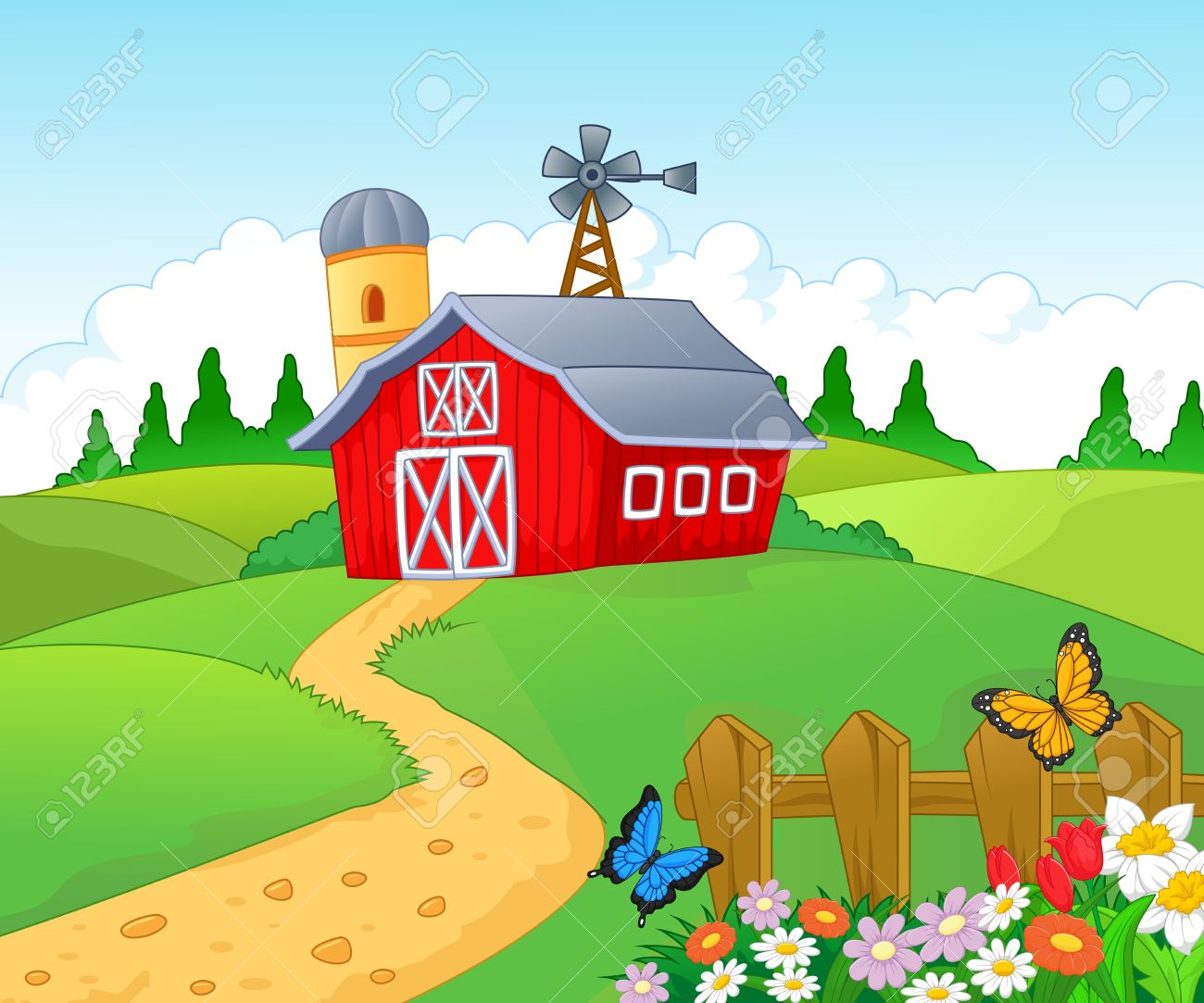 Barn Background Clipart.