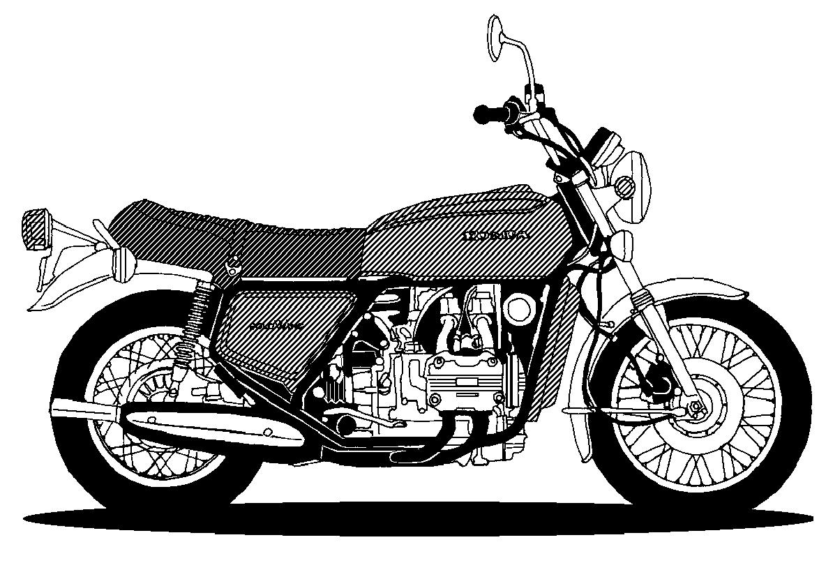 Granny on motorcycle clipart.