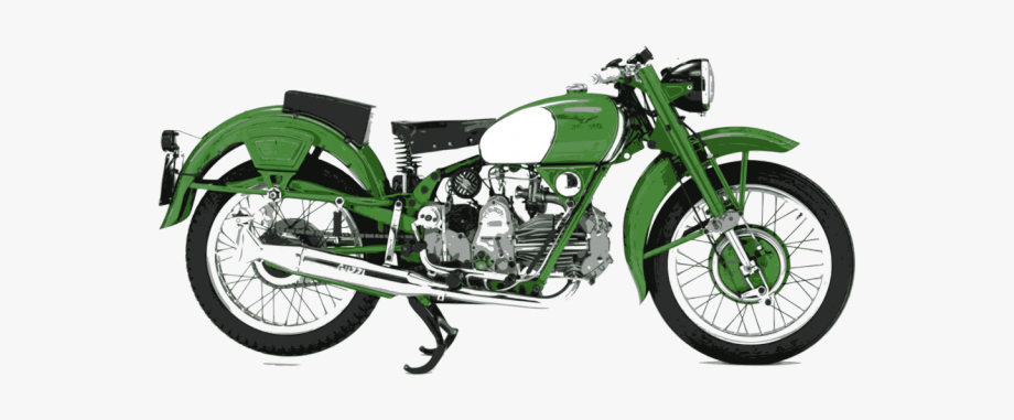 Vehicle Clipart Green Motorcycle.