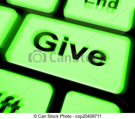 Clipart of Give Keyboard Means Bestowed Allot Or Grant.