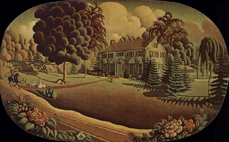 grant wood paintings.