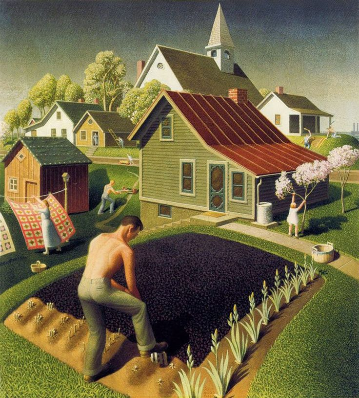 1000+ ideas about Grant Wood on Pinterest.