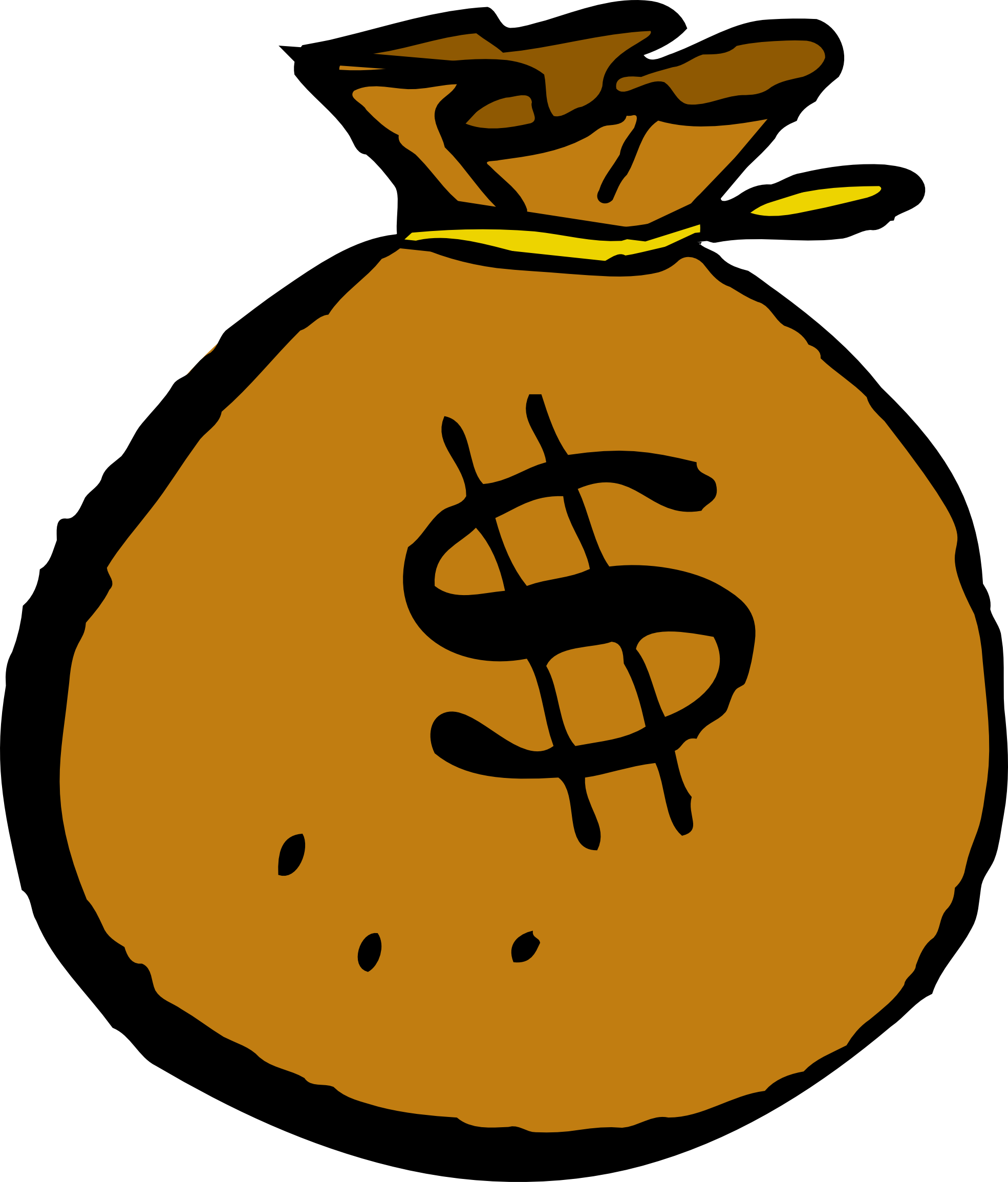 Showing post & media for Cartoon money bag clip art.