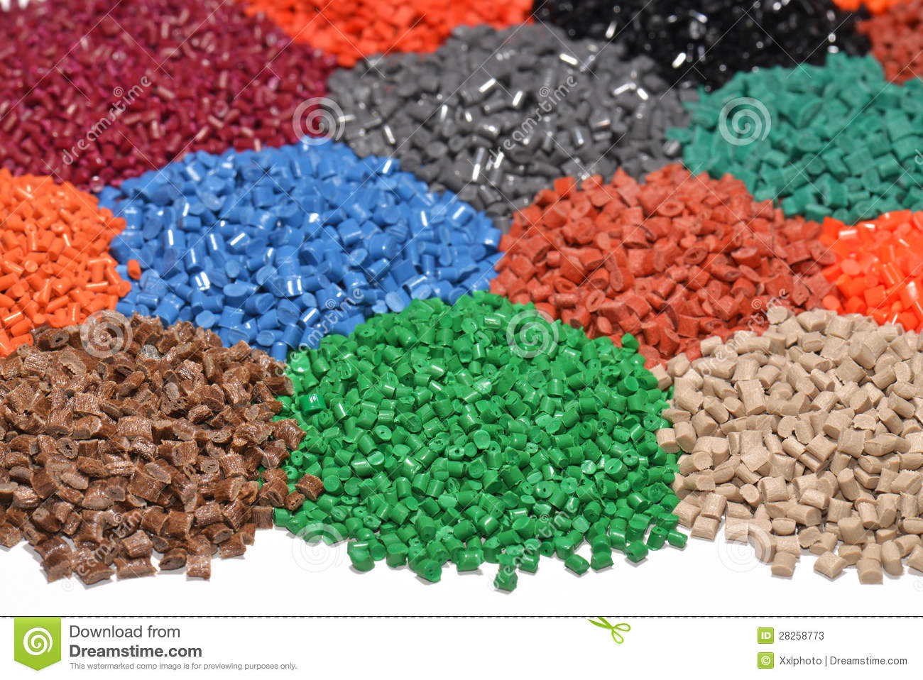 Dyed Plastic Granulate Royalty Free Stock Photography.