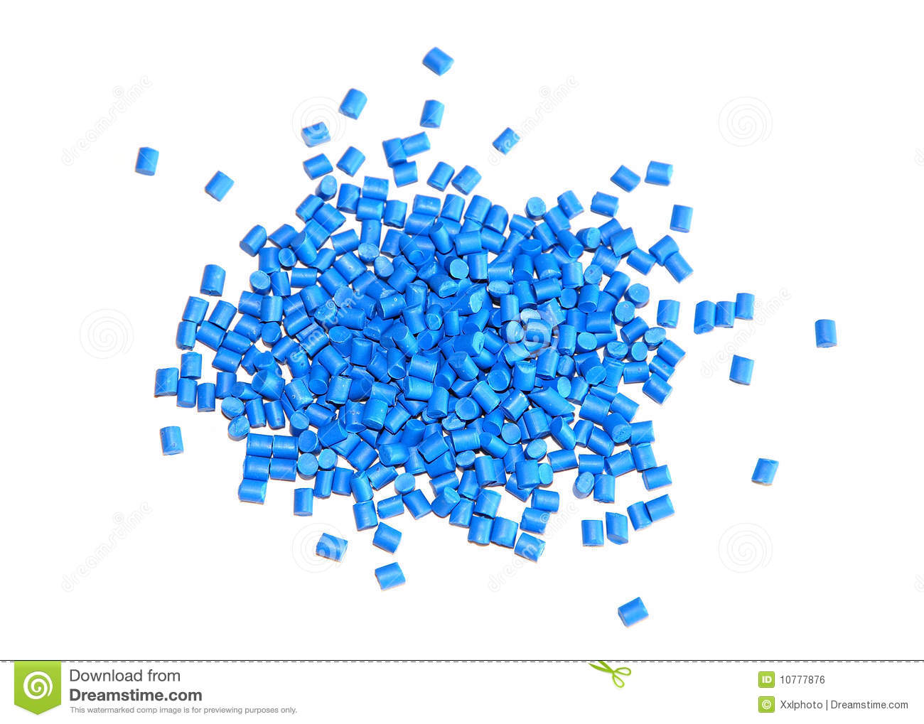 Blue Plastic Granulate Royalty Free Stock Image.
