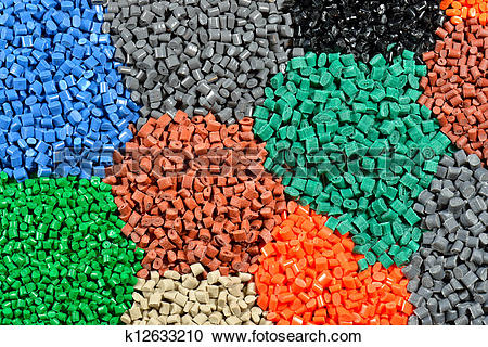 Stock Photography of tinted plastic granulate k12633210.