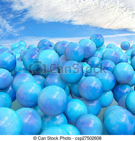 Stock Illustration of Plastic granulate.