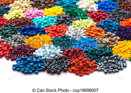 Stock Photography of dyed plastic granulate resins csp19698007.