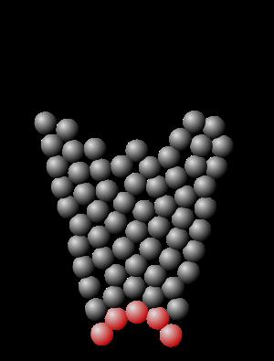 Granular material.