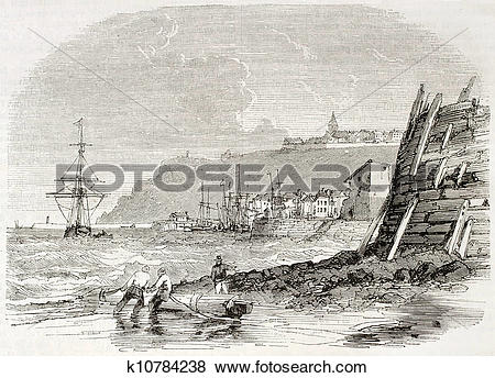 Stock Illustration of Granville seaport k10784238.