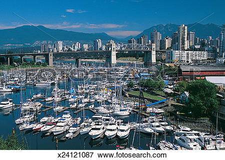 Picture of Sailing Yachts in the Marina on Granville Island.