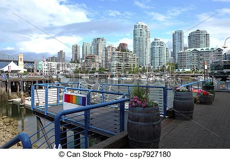 Stock Photography of Ferries terminal in Granville island.
