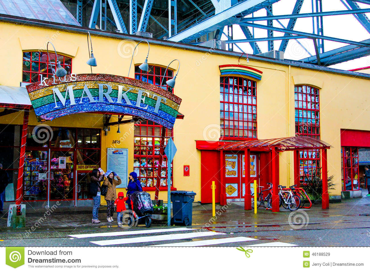 Kid's Market, Granville Island. Editorial Stock Image.