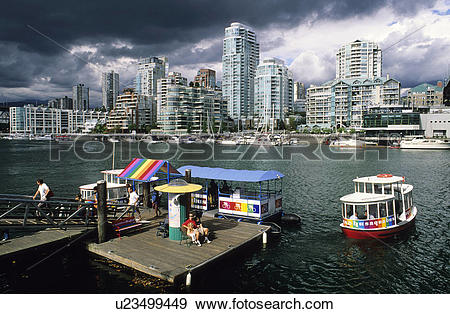 Stock Photograph of The Aquabus at Granville Island, Vancouver.
