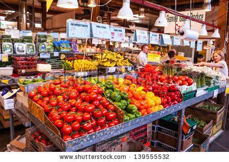Public Market on Granville Island picture in Vancouver.
