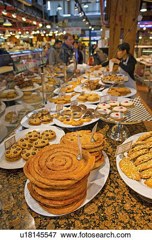 Picture of Baked goods on display at a market stall at the.