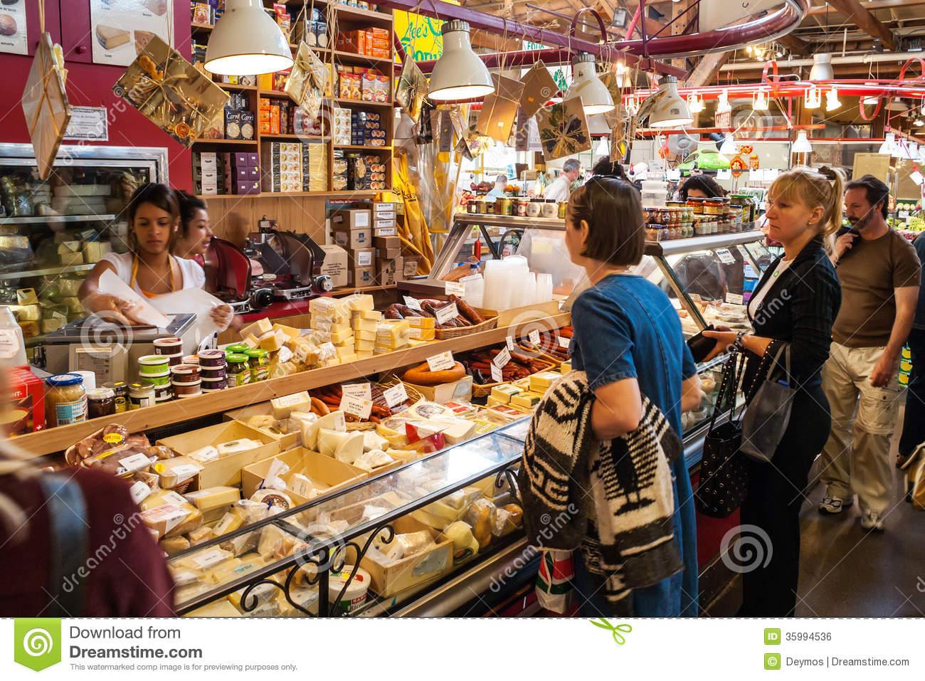 Granville Island Public Market In Vancouver, Canada Editorial.
