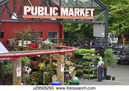 Stock Photo of Granville Island Public Market, Vancouver, British.