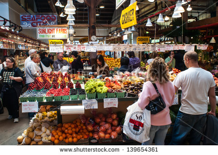 Granville Market Stock Photos, Royalty.