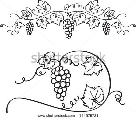 Wallpaper Grapes Vine Branches Clipart Free Border Frame.
