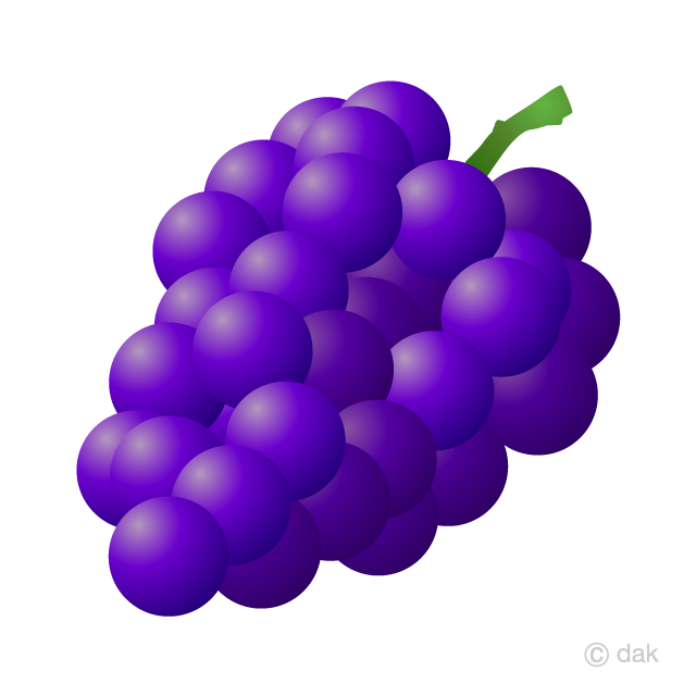 Grape Clipart Free Picture|Illustoon.