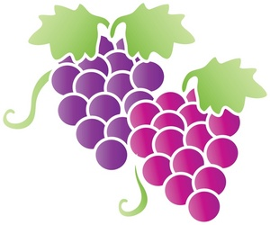 Clip Art Grape and Lime.