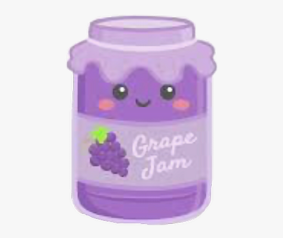 cute #grape #jelly #jar #freetoedit.