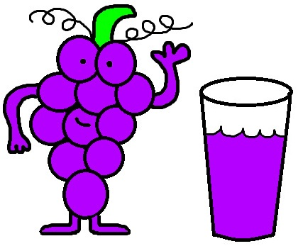 Grape juice clipart.