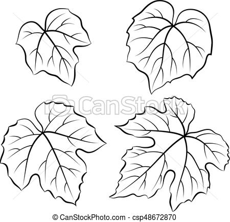 Grape Leaves Pictograms.