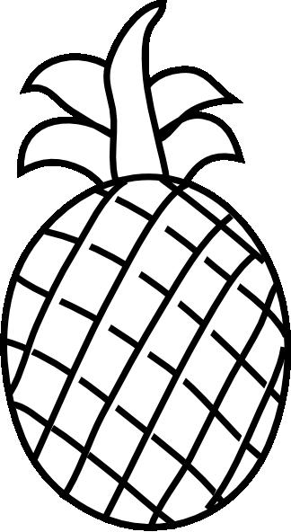 Pineapple Outline Clip Art at Clker.com.