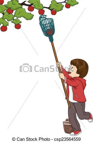 Fruit picking Clip Art Vector Graphics. 598 Fruit picking EPS.