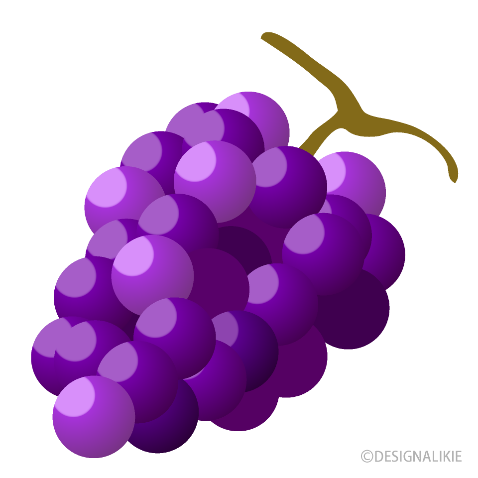 Free Pale Grape Clipart Image|Illustoon.