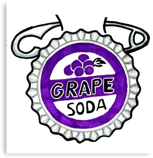 \'up grape soda pin 2\' Canvas Print by Jamestanner3907.
