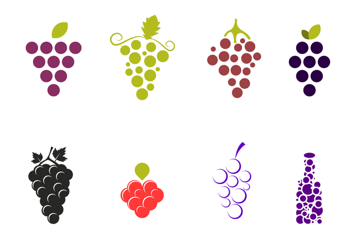 Grapes Vector Pack.